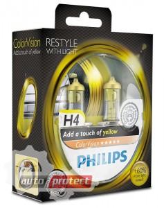 Фото 1 - Philips ColorVision H4 12V 60/55W Автолампа галоген, 2шт 1