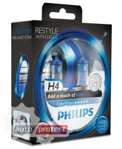 Фото 1 - Philips ColorVision H7 12V 55W Автолампа галогенная, 2шт 1
