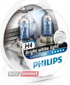 Фото 1 - Philips CrystalVision H4 12V 60/55W Автолампа галоген, 1шт 2