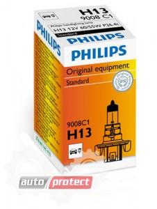 Фото 1 - Philips Standart H13 12V 60/55W Автолампа галоген, 1шт
