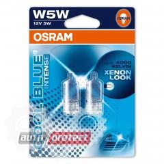 Фото 1 - Osram Cool Blue Intense W5W 12V 5W Автолампа галогеная, 2шт