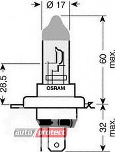Фото 2 - Osram Original Line H4 24V 75/70W автолампа галоген, 1шт