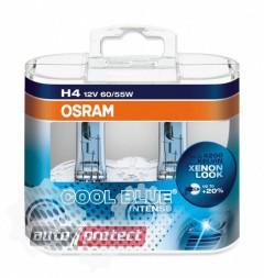 Фото 2 - Osram Cool Blue Intense H4 12V 60/55W автолампа галоген, 2шт