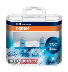 Фото 3 - Osram Cool Blue Intense H3 12V 55W автолампа галоген, 2шт