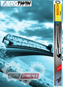 Фото 1 - Bosch AeroTwin Щетки стеклоочистителя бескаркасные 550 и 475 мм (комплект) A408S