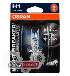Фото 2 - Osram Night Breaker Unlimited 64150NBU01B H1 12V 55W автолампа галоген, 1шт