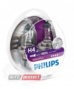 Фото 1 - Philips VisionPlus H4 12V 60/55W Автолампа галоген, 2шт 0