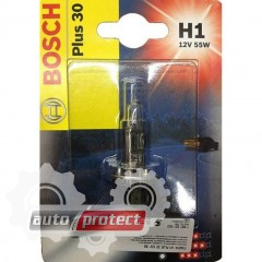 Фото 2 - Bosch Plus 30 H1 12V 55W Автолампа галогеновая, 1шт