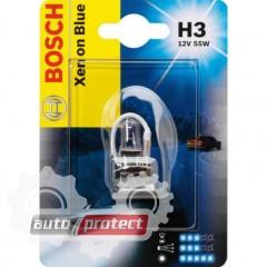 Фото 2 - Bosch Xenon Blue H3 12V 55W Автолампа галогенная, 1шт