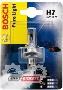 Фото 1 - Bosch Pure Light H7 12V 55W Автолампа галогенная, 1шт