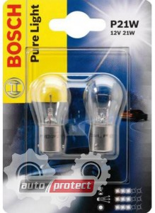 Фото 1 - Bosch Pure Light P21W 12V 21W Автолампа, 2шт
