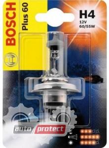 Фото 1 - Bosch Plus 50 H4 12V 60/55W Автолампа галогеновая, 1шт
