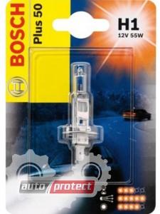 Фото 1 - Bosch Plus 50 H1 12V 55W Автолампа галогеновая, 1шт