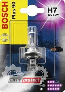 Фото 1 - Bosch Plus 90 H7 12V 55W Автолампа галогенная, 1шт