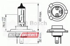 ���� 2 - Bosch Pure Light  H4 12V 60/55W ��������� �����������, 1��