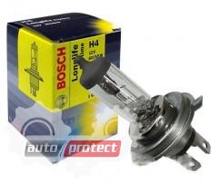 Фото 1 - Bosch Longlife Daytime H4 12V 60/55W Автолампа галогенная, 1шт
