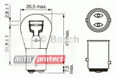 Фото 2 - Bosch Pure Light P21/5W 12V 21/5W Автолампа, 1шт