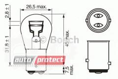 Фото 2 - Bosch Pure Light P21/5W 12V 21/5W Автолампа, 1шт
