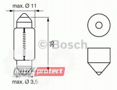 Фото 2 - Bosch Pure Light C5W 12V 5W Автолампа, 1шт