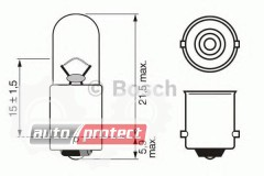 Фото 1 - Bosch Pure Light 12V 2W  Автолампа, 1шт