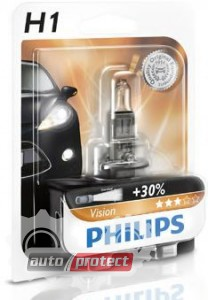 Фото 2 - Philips Vision H1 12V 55W Автолампа галоген, 1шт 2