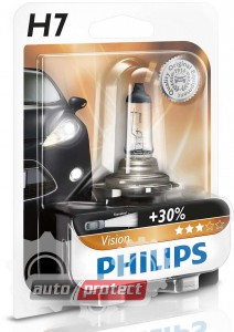 Фото 2 - Philips Vision H7 12V 55W Автолампа галогенная, 1шт 2