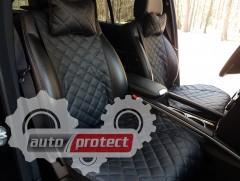Фото 2 - Аvторитет Premium Накидки из экокожи на передние сиденья, черные, 2шт