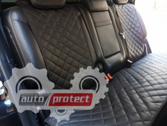 Фото 5 - Аvторитет Premium Накидки из экокожи на передние и задние сиденья, черные
