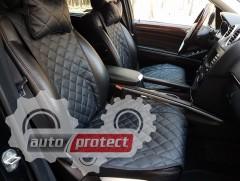 Фото 2 - Аvторитет Premium Накидки из экокожи на передние и задние сиденья, черные