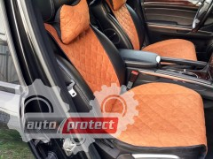 Фото 3 - Аvторитет Premium Накидки на передние сиденья, коричневые, 2шт 3