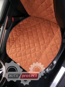 Фото 2 - Аvторитет Premium Накидки на передние сиденья, коричневые, 2шт 2