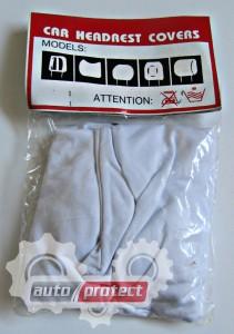 Фото 3 - Autoprotect Чехлы на подголовники OPEL, белые 3