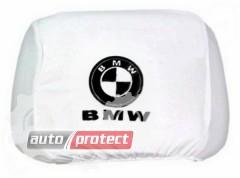 Фото 1 - Autoprotect Чехлы на подголовники BMW, белые 1