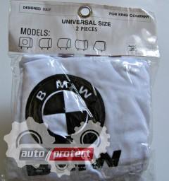 Фото 3 - Autoprotect Чехлы на подголовники BMW, белые 3