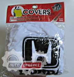 Фото 2 - Autoprotect Чехлы на подголовники HONDA, белые 2