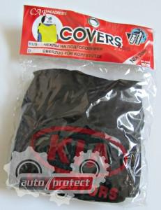 Фото 1 - Autoprotect Чехлы на подголовники KIA, чёрные 1
