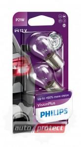 Фото 1 - Philips VisionPlus P21W 12V 21W Автолампа галоген, 2шт 0