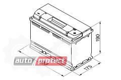 Фото 2 - Bosch Аккумулятор автомобильный Bosch S5 SILVER 100 А*ч -/+ 830A