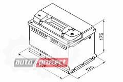 Фото 2 - Bosch Аккумулятор автомобильный Bosch S5 SILVER 74 А*ч -/+ 750A
