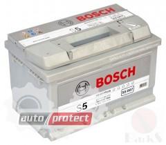 Фото 1 - Bosch S5 Silver74 Ач -/+ 750A Аккумулятор автомобильный