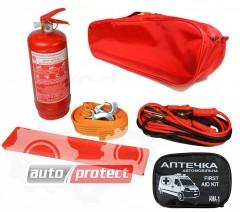 Фото 1 - Autoprotect Набор автомобилиста, красная сумка, 6 предметов + перчатки в подарок! 1