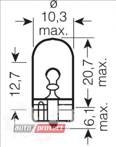 Фото 2 - Osram 2825 ULT Ultra Life W5W 12V 5W W2.1x9.5d Автолампа фонаря указателя поворота