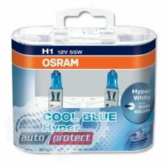 Фото 1 - Osram Cool Blue Hyper 62150 H1 12V 55W Автолампа галогенная, 2шт