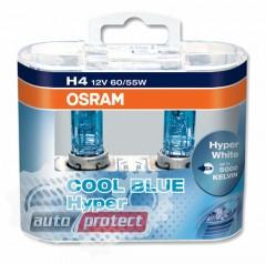 Фото 1 - Osram Cool Blue Hyper H4 12V 60/55W Автолампа галогенная, 2шт