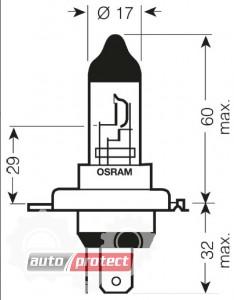 Фото 2 - Osram Super Bright H4 12V 100/90W Автолампа галогенная, 1шт
