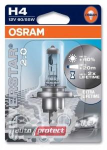 Фото 1 - Osram Silverstar 2.0 H4 12V 60/55W Автолампа галогенная, 1шт