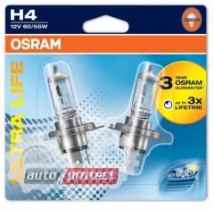 Фото 3 - Osram 64193 ULT Ultra Life H4 12V 60/55W P43t Автолампа галогенная