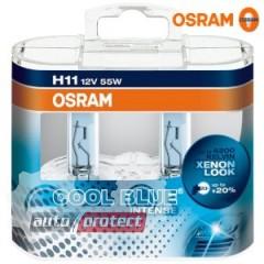 Фото 1 - Osram Cool Blue Intense 64211 H11 12V 55W Автолампа галогенная, 2шт