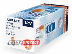 Фото 3 - Osram Ultra Life 7507 PY21W 12V 21W Автолампа галогенная, 2шт