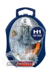 Фото 1 - Osram EUROBOX H1 Комплект галогенных ламп с основной лампой H1